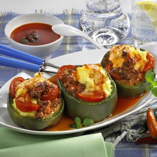 Paprika mit Püree-Tatar-Füllung