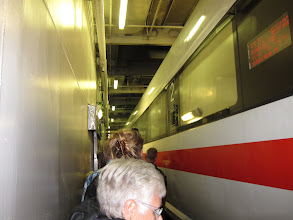 Photo: The train from Hamburg to Copenhagen goes onto the ferry across the Baltic. How cool is that?