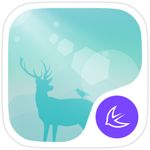 Deer in the forest theme Icon