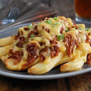 Pulled Pork & Gouda Cheese Fries.