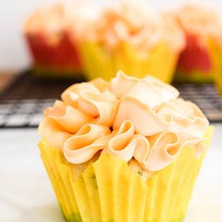 Basil Cupcakes with Grapefruit Icing