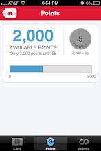 Photo: This was my rewards balance when I first logged in.
