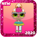 LOL Surprise Glitter Dolls Wallpapers HD icon