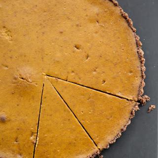 Gluten-Free Pumpkin Tart with Mexican Chocolate-Almond Crust