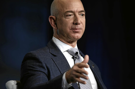 For or against? Amazon CEO Jeff Bezos is being pressured to take a political stand on gun control. Picture: REUTERS