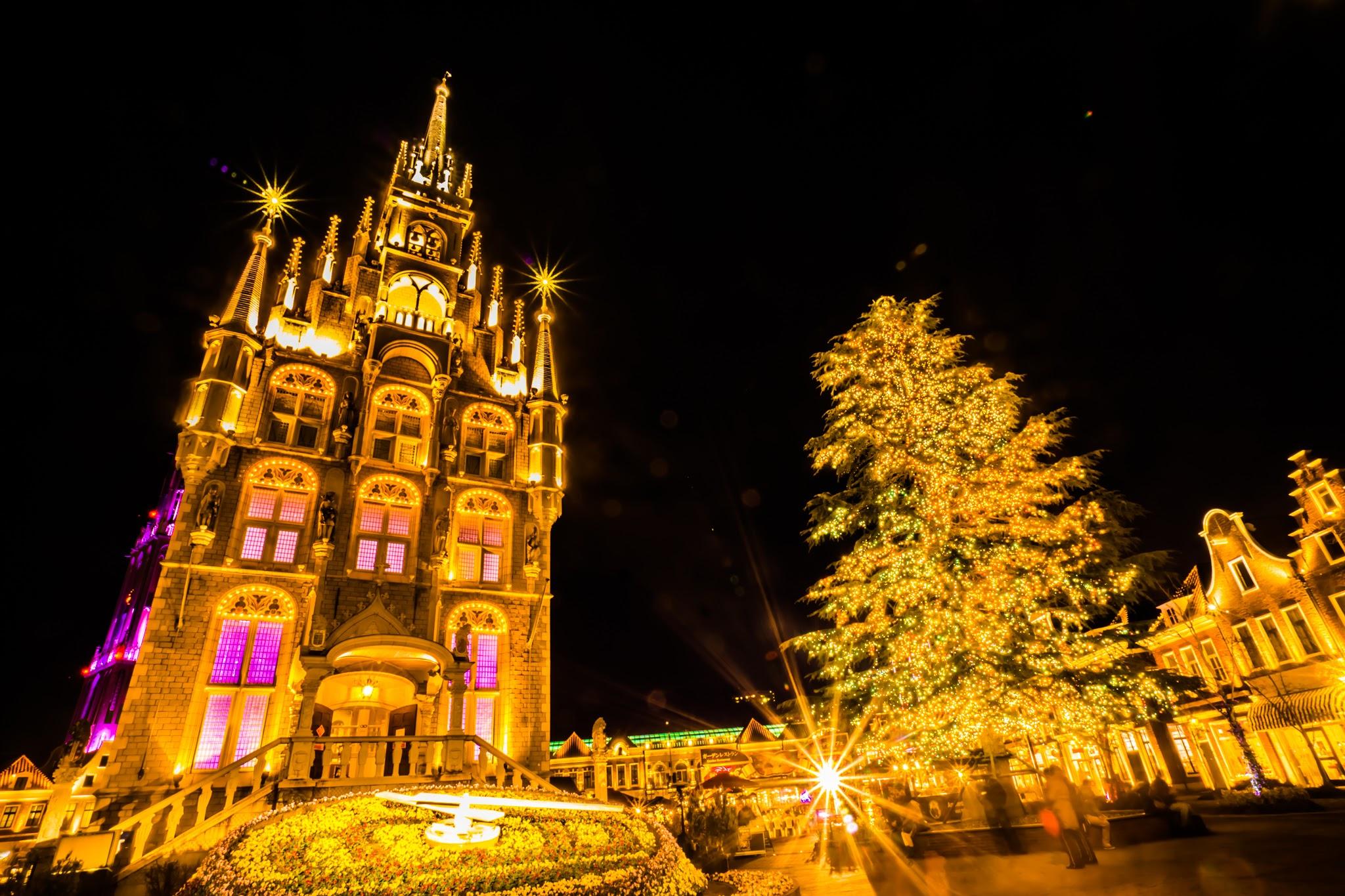 ハウステンボス イルミネーション 光の王国 アムステルダムシティ5