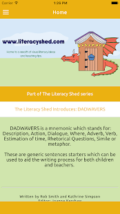 DADWAVERS: A Literacy Shed App- screenshot thumbnail