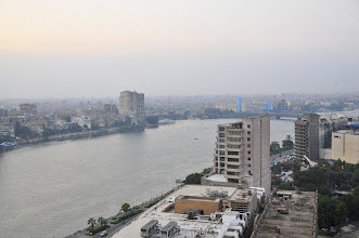 Photo: view of the Nile from our room