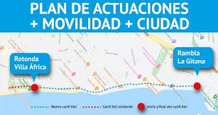 Plano de la actuación elaborado por el Ayuntamiento de Roquetas.