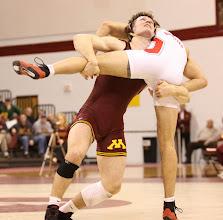 Photo: 184 Kevin Steinhaus (Minnesota) tech fall Craig Thomas (Ohio State) 19-3