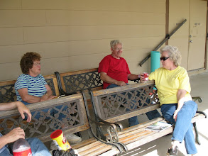 Photo: Train Watchers Virginia Freitag, Gil Freitag, and Letha Grace McCoy
