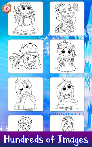 Learn to Draw Princess: Draw, Color & Glitter Book App