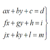 System Equations 3x3