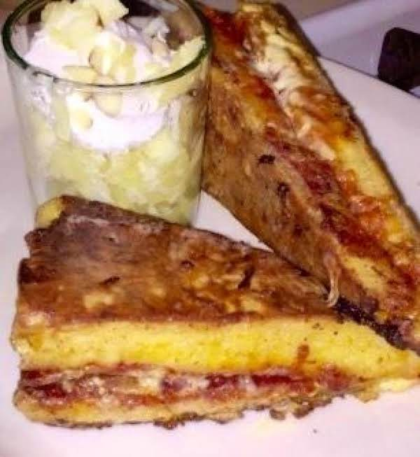 Leftover Pizza W/pineapple. Monte Cristo Style Recipe
