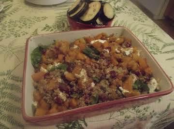 Quinoa with Mushrooms and Butternut Squash Salad