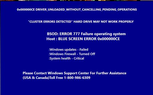 Remove BSOD: ERROR 777 Failure Operating System on Windows