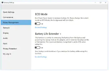 Disable Battery Life Extender in Windows 10