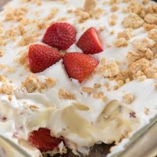 No Bake Strawberry Shortcake Dessert.