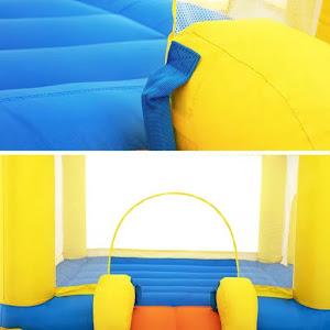 Centru de joaca cu piscina, trambulina si tobogan, gonflabil, 365x340 cm