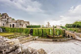 Photo: La Rometta fountain (with references to Rome) in Villa d'Este in Tivoli, Lazio, Italy