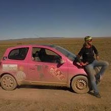 Mongol Rally Solo Woman Driver and team the Pink Yak