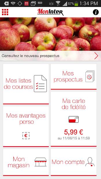 Mon Inter Android App Screenshot