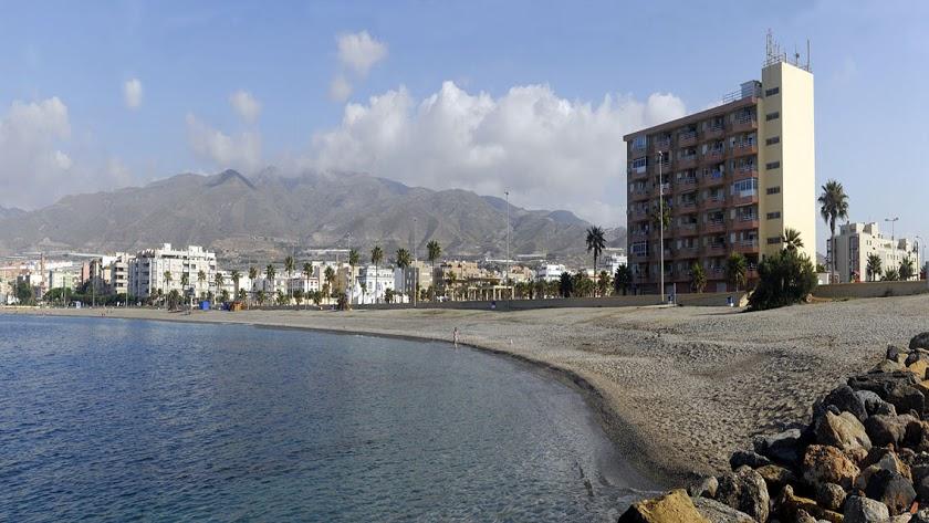 Imagen de la playa de San Nicolás.