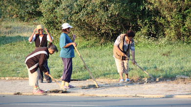 Photo: Day 98 - Bulgarian Women at Work at 6.30 am!