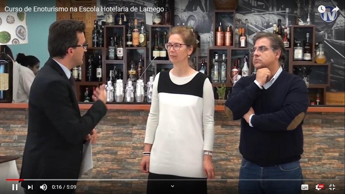 Vídeo - Curso de Enoturismo na Escola Hotelaria de Lamego