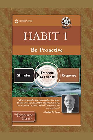 Habit 1: Be Proactive video