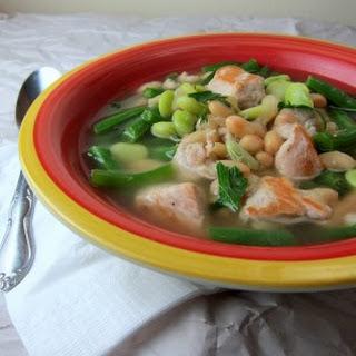 20 Minute Pork Three-Bean Soup