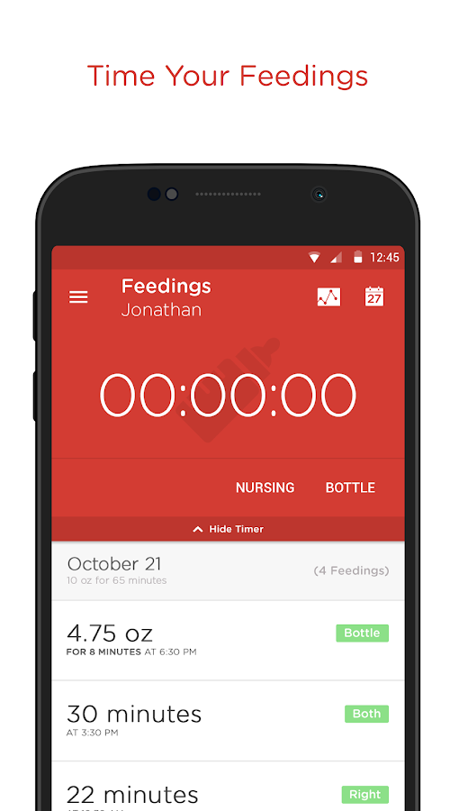 Hatch Baby - Activity Tracker- screenshot