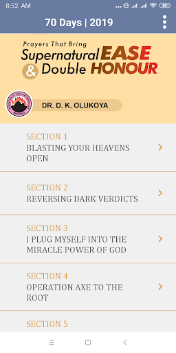 MFM 2019 SEVENTY DAYS PRAYER & FASTING 1.0 screenshots 2
