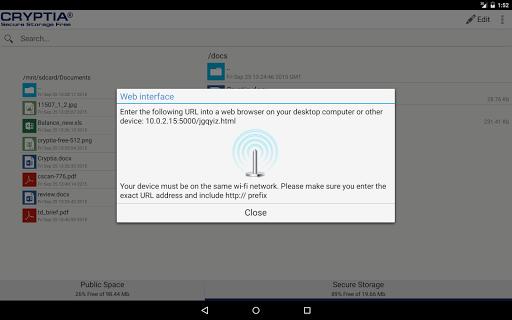 玩免費生產應用APP 下載Cryptia Secure Storage Free app不用錢 硬是要APP