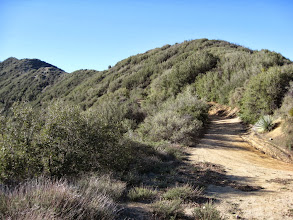 Photo: View south toward the ridge I will descend on my return trip