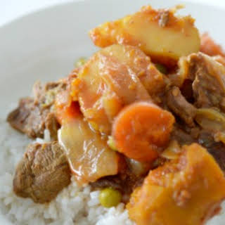 Slow Cooker Curried Beef and Vegetables.
