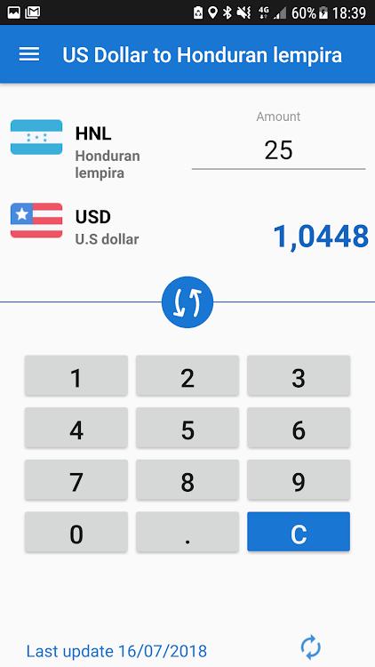Us Dollar To Honduran Lempira Usd