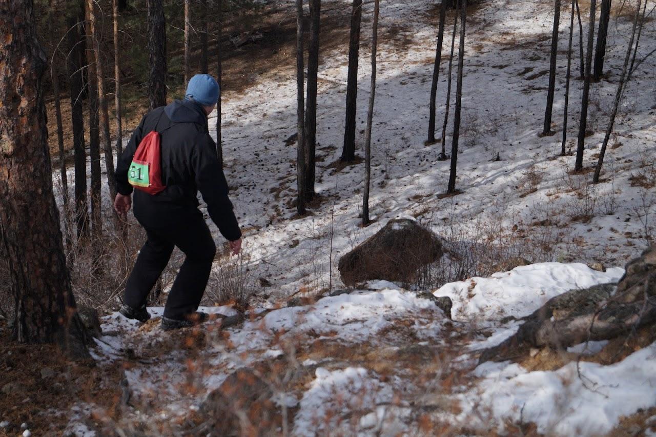 Спуск по большим камням - Забайкальский снежный трейл Самопревосхождение 2017