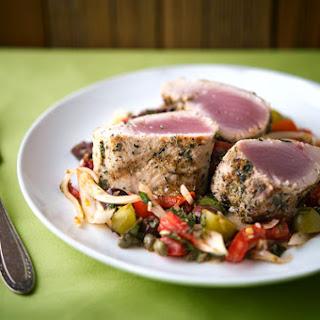 Grilled Tuna Sicilian Style