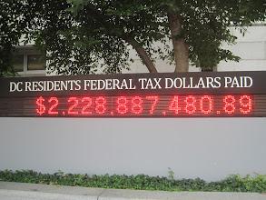 Photo: A washingtoniak által befizetett szövetségi adók, úgy hogy nincsenek képviselve a szövetségi törvényhozásban