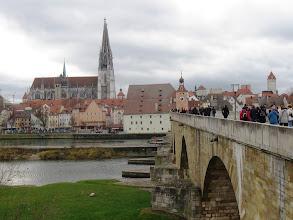 Photo: 4.12.2011 Regensburg - pohled na město z Kamenného mostu