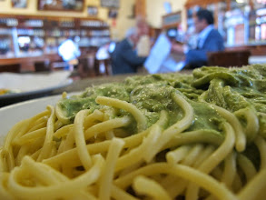 Photo: Spaguetti Al Pesto Bar Restaurante Cordano Centro de Lima Mayo - 2014