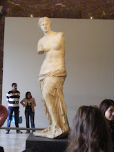Photo: The Venus de Milo (or Aphrodite of Milos, after the island where it was discovered in 1820) draws a large crowd, of course. The statue's great fame has not simply been the result of its exceptional beauty, but also of a major propaganda effort. In 1815, France returned the Medici Venus to Italy after its seizure by Napoleon Bonaparte. The loss of the Medici Venus, regarded as one of the finest Classical sculptures, led the French to actively promote the Venus de Milo as an even greater treasure, and the epitome of graceful female beauty.