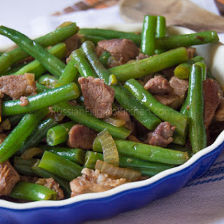 Sauteed Green Beans With Pork.
