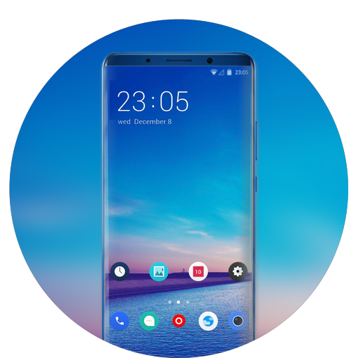 Theme for clear blue river dam wallpaper icon