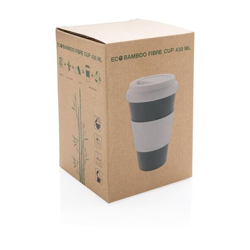 Large 430ml Organic Bamboo Takeaway Cup White