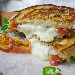 Crispy Pancetta Guava Grilled Cheese.
