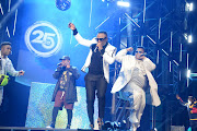DJ Tira and his band members perform during the 25th annual South African Music Awards (SAMA 25) at Sun City on June 01, 2019 in Rustenburg, South Africa.