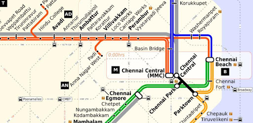 Chennai Suburban Train Map Chennai Local Train & Bus Map   Apps on Google Play