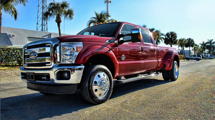 """Photo: 2013 FORD F350 19.5"""" CLASSIC DIRECT BOLT-ON & SUMITOMO TIRES"""